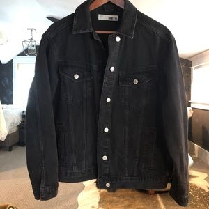 Topshop Moto oversized denim jacket
